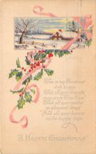 xms002475 - Christmas Post Card Antique Xmas Postcard