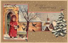 xms002489 - Christmas Post Card Antique Xmas Postcard