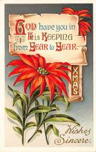 xms002497 - Christmas Post Card Antique Xmas Postcard