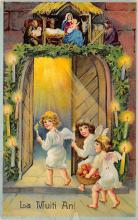 xms002499 - Christmas Post Card Antique Xmas Postcard