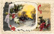 xms002503 - Christmas Post Card Antique Xmas Postcard
