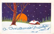 xms002515 - Christmas Post Card Antique Xmas Postcard
