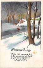 xms002519 - Christmas Post Card Antique Xmas Postcard