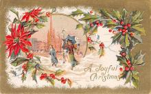 xms002533 - Christmas Post Card Antique Xmas Postcard