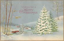 xms002555 - Christmas Post Card Antique Xmas Postcard