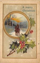 xms002567 - Christmas Post Card Antique Xmas Postcard