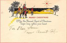 xms002575 - Christmas Post Card Antique Xmas Postcard