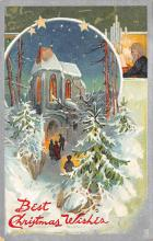 xms002587 - Christmas Post Card Antique Xmas Postcard