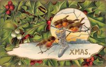 xms002589 - Christmas Post Card Antique Xmas Postcard