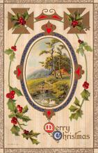 xms002601 - Christmas Post Card Antique Xmas Postcard