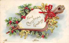 xms002607 - Christmas Post Card Antique Xmas Postcard