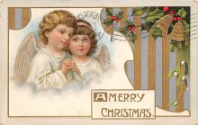 xms002609 - Christmas Post Card Antique Xmas Postcard