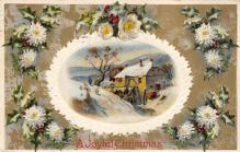 xms002611 - Christmas Post Card Antique Xmas Postcard