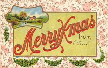 xms002617 - Christmas Post Card Antique Xmas Postcard