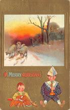 xms002629 - Christmas Post Card Antique Xmas Postcard