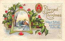 xms002633 - Christmas Post Card Antique Xmas Postcard