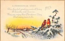 xms002637 - Christmas Post Card Antique Xmas Postcard