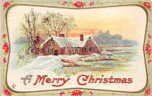 xms002639 - Christmas Post Card Antique Xmas Postcard