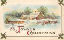 xms002641 - Christmas Post Card Antique Xmas Postcard