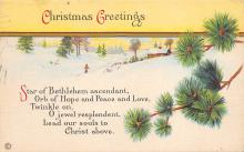 xms002645 - Christmas Post Card Antique Xmas Postcard