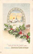 xms002653 - Christmas Post Card Antique Xmas Postcard