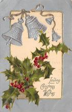 xms002663 - Christmas Post Card Antique Xmas Postcard