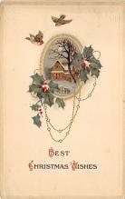 xms002667 - Christmas Post Card Antique Xmas Postcard