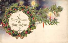 xms002671 - Christmas Post Card Antique Xmas Postcard