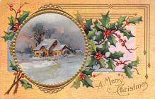 xms002683 - Christmas Post Card Antique Xmas Postcard