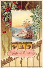 xms002687 - Christmas Post Card Antique Xmas Postcard