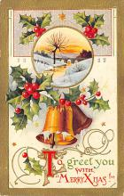 xms002691 - Christmas Post Card Antique Xmas Postcard