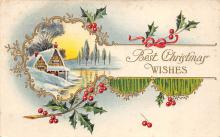 xms002693 - Christmas Post Card Antique Xmas Postcard