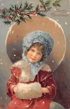 xms002695 - Christmas Post Card Antique Xmas Postcard