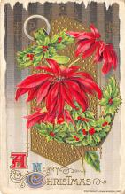 xms002709 - Christmas Post Card Antique Xmas Postcard