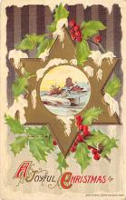 xms002715 - Christmas Post Card Antique Xmas Postcard