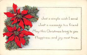 xms003351 - Christmas Postcard Antique Xmas Postcard