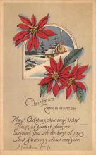 xms003439 - Christmas Post Card Old Xmas Postcard