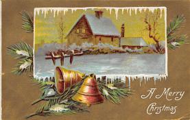 xms003445 - Christmas Post Card Old Xmas Postcard