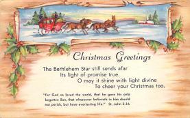 xms003449 - Christmas Post Card Old Xmas Postcard