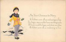 xms003705 - Christmas Postcard Vintage Antique Xmas Post Card