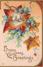 xms003707 - Christmas Postcard Vintage Antique Xmas Post Card