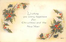 xms003715 - Christmas Postcard Vintage Antique Xmas Post Card