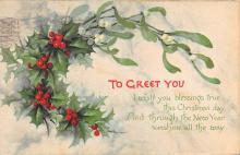 xms003719 - Christmas Postcard Vintage Antique Xmas Post Card