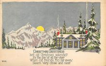 xms003721 - Christmas Postcard Vintage Antique Xmas Post Card
