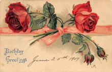 xms003731 - Happy Birthday Postcard Old Vintage Post Card