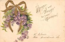 xms003733 - Happy Birthday Postcard Old Vintage Post Card
