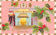 xms003785 - Christmas Postcard Antique Xmas Post Card