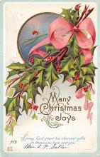 xms004019 - Christmas Holiday Postcard Vintage Xmas Post Card