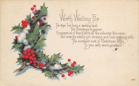 xms004029 - Christmas Holiday Postcard Vintage Xmas Post Card