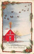 xms004033 - Christmas Holiday Postcard Vintage Xmas Post Card